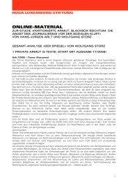 Gesamt Analyse «DER SPIEGEL - Rosa-Luxemburg-Stiftung