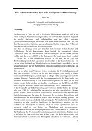 Zhao Wei Institut für Philosophie und Sozialwissenschaf
