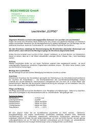 Datenblatt mit Montageanleitung - Roschwege Shop