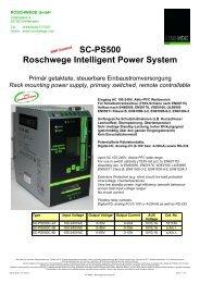 technisches Datenblatt - Roschwege Shop
