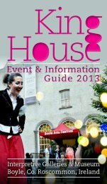 King House - Events Programme - Roscommon County Council