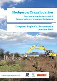 Hedgerow Translocation - Roscommon County Council