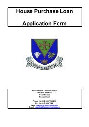 Annuity Loan Application Form - Roscommon County Council