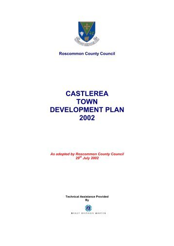 castlerea town development plan 2002 - Roscommon County Council