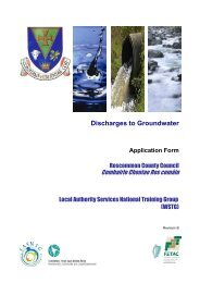 Discharges to Groundwater Application Form - Roscommon County ...
