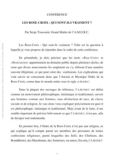 PDF GRATUIT TÉLÉCHARGER MONOGRAPHIES AMORC
