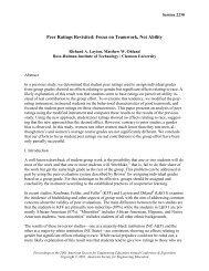 Peer evaluations in teams of predominantly minority ... - Rose-Hulman