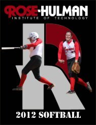 2012 Media Guide - Rose-Hulman