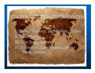 STATES AND THE STATE SYSTEM - Rose-Hulman