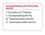I. Concepts and Theories II. Conceptualizing the EU ... - Rose-Hulman