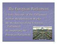The European Parliament - Rose-Hulman