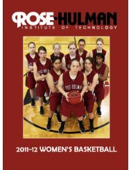 2011-12 Media Guide - Rose-Hulman