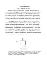 Free Body Diagrams - Rose-Hulman