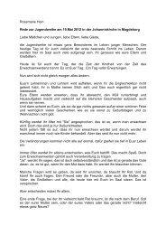 Rosemarie Hein Rede zur Jugendweihe am 19.Mai 2012 in der ...