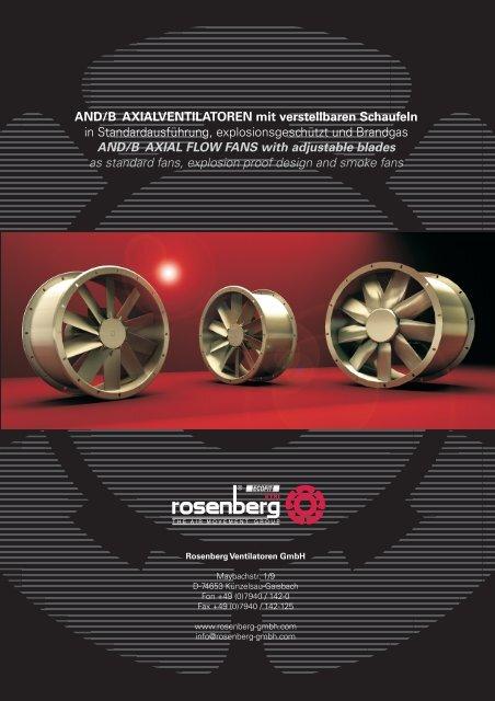 AND/ANDB - Axialventilatoren mit verstellbaren ... - Rosenberg