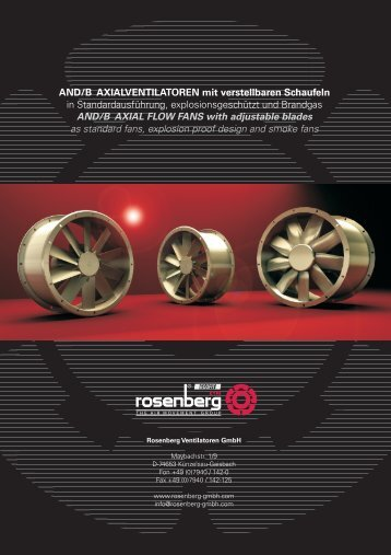 AND/ANDB - Axial flow fans with adjustable blades / EN - Rosenberg