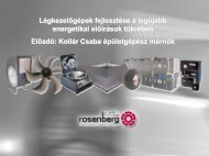 Légkezelőgépek fejlesztése - Rosenberg