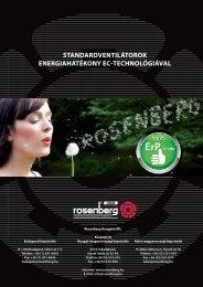 standardventilátorok energiahatékony ec-technológiával - Rosenberg