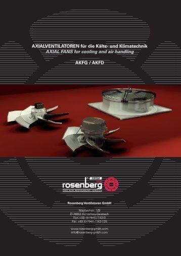 Axialventilatoren / Axial Fans - AKFG / AKFD - Dantherm