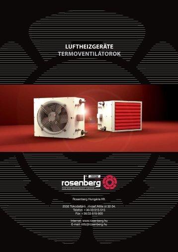 LUFTHEIZGERÄTE TERMOVENTILÁTOROK - Rosenberg