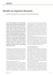 Aktuelles zur atopischen Dermatitis