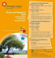 Preise und Angebote 2013 - Campingplatz Rosenfelder-Strand