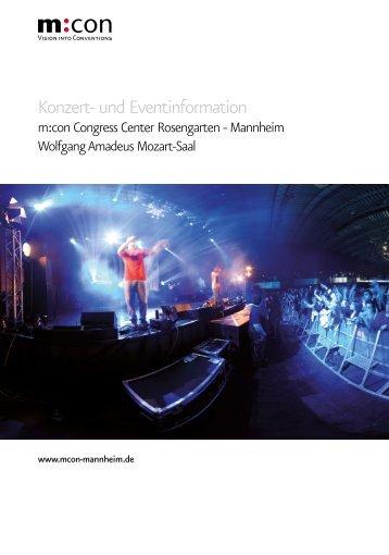 Konzert- und Eventinformation - Congress Center Rosengarten ...