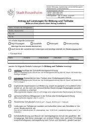 Antrag auf Leistungen für Bildung und Teilhabe - Stadt Rosenheim