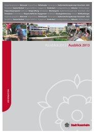 Rückblick 2012/Ausblick 2013 - Stadt Rosenheim