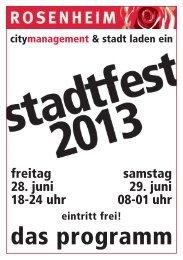 Programmheft - City-Management Rosenheim