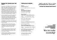 """""""Häusliche Gewalt"""" Wer ist wofür zuständig? - Stadt Rosenheim"""