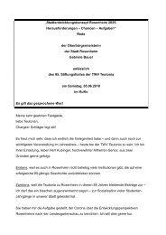 Rede der Oberbürgermeisterin der Stad - Stadt Rosenheim
