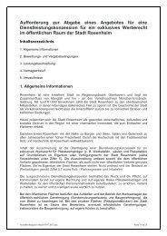 Dienstleistungskonzession für exklusives ... - Stadt Rosenheim