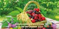 kulinarischer kalender juli bis september - VILA VITA Rosenpark