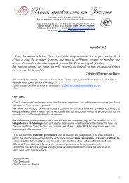 Lettre septembre 2012 - Roses Anciennes en France