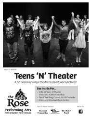 Download a copy of our Teens 'N' Theater Brochure - The Rose
