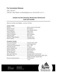 Cast and Credits - The Rose