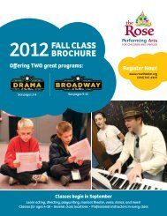 download our fall class brochure - The Rose