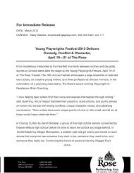 Young Playwrights Festival - The Rose