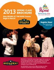 download our spring class brochure - The Rose