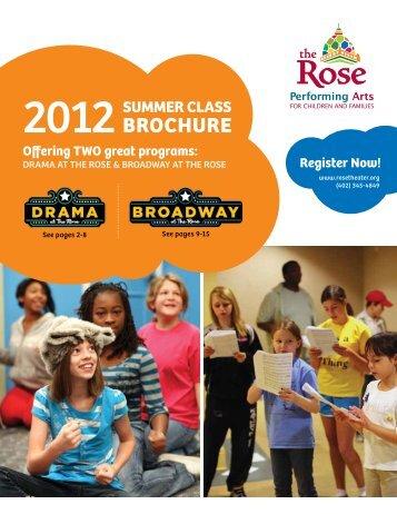 SUMMER CLASS BROCHURE - The Rose