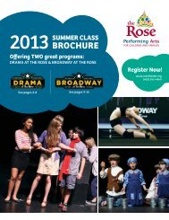 download our summer class brochure - The Rose