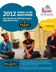 New DRAMA AT THE ROSE Classes Begin March 17th!