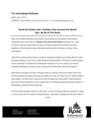 For Immediate Release - The Rose