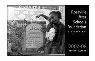 2007-2008 Annual Report RASF - Roseville Area Schools Foundation