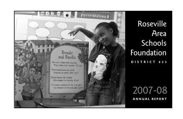 2007-2008 Annual Report RASF - Roseville Area Schools Foundation