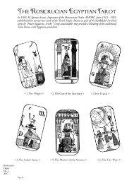 Rosicrucian Egyptian Tarot - Rosicrucian Order