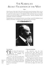The Kabbalah: Secret Tradition of the West - Rosicrucian Order