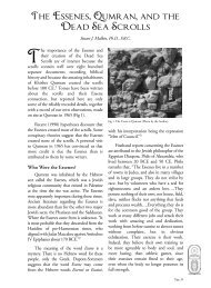 The Essenes, Qumran, and the Dead Sea Scrolls