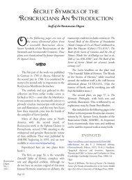 Secret Symbols of the Rosicrucians: An ... - Rosicrucian Order